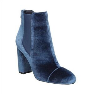 NEW Sam Edelman Blue Velvet Booties